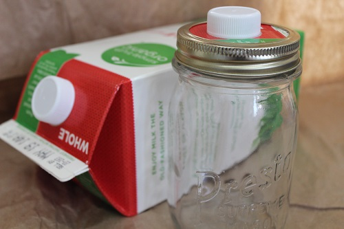 Recycle milk cartons into a kitchen helper