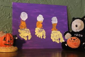 Candy corn Halloween crafts