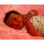Emmeline a newborn, now 5