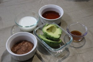 Ingredients avocado pudding
