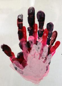 hand print love